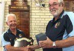 Fishing Club - Jim George - Outside Waters Champion presented by Club President, John Field