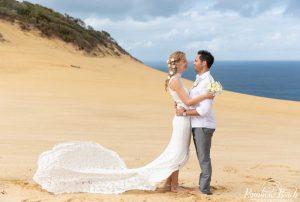 Congratulations Mr and Mrs Platt! Image Rainbow Beach Wedding Photography