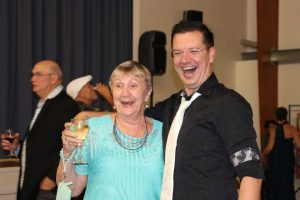 New Year's Eve is a chance to dress up and celebrate, like Betty Freeman and Andrew Hawkins at the recent ArtyBall