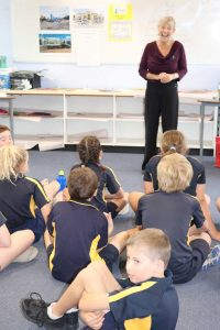Elli Webb, Waste Education Coordinator from Gympie Regional Council had tips for students from RBSS, tips that all ages would benefit from