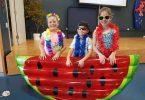 Mia Reibel, Brodie Yapp and Ruby Bubke were all fun in the sun