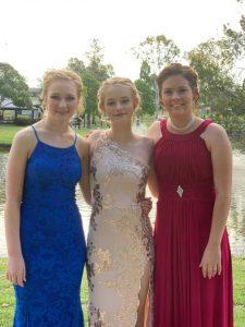 Year 12 2018 Crystalrose Mckenna (centre) is pictured Elisha Bath and Meagan Neumann