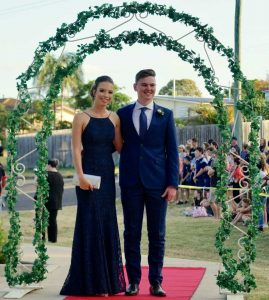 Year 12 2018 - Emily Brantz with her formal partner Jack McPherson