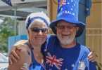 Australia Day is also celebrated at the Yacht Club in Tin Can Bay with rivalry from three teams - Yachties, Sailability and the Dragon Club Image Julie Hartwig Photography