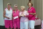 The winning team members were from left to right Lin Groombridge, Tina Guy, Margie Moore and Chris Harvey