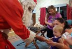 Santa hands out sweet treats