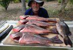 Fishing Club member, Derek Andrews brings home the bacon!