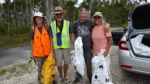 Members of the CCR&F helped clean up Cooloola Cove - you can too in 2019, there's stations all over the coast