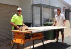 Community Hall - Wolf Sievers and Bob Gudge were preparing shelves last holidays