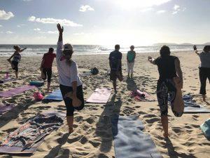 Enjoy yoga on the beach with Glenda and see sunrise on Tuesdays