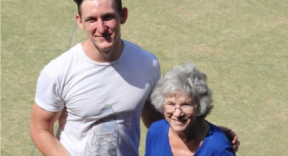 The new Friday afternoon social bowls is only one new change the Sports Club have planned for the community. Local Marcia Mills and grandson Tristan Watson show that it is for men and women, young and not so young - come join them!