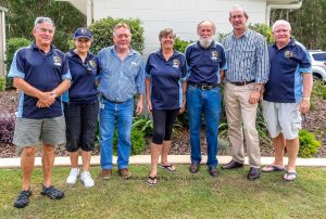 Mayor Mick Curran and Cr Mark McDonald thanked the Tin Can Bay Fishing Club for their contribution to the community at a celebratory morning tea