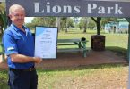 Patrick Green, President of Tin Can Bay Lions Club welcomes the Breastscreen Van to Lions Park, 45 Tin Can Bay Road, behind the Tin Can Bay Library