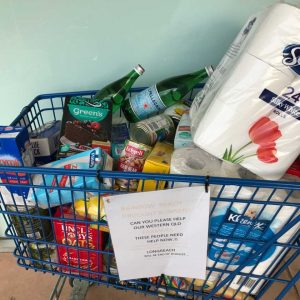 Here's the trolley you can donate into at the Rainbow Beach IGA