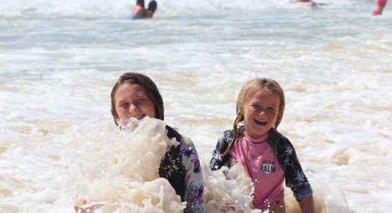 When it is holidays, and all year through, Skye and Frankie Hanlon rate Rainbow Beach