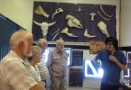 Our group listens to the guide, Daniel, at the Gympie Bone Museum