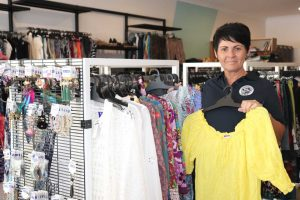 Retail Operations Manager from St. Vincent de Paul, Lisa Baker, presents Vinnies Rainbow Beach!