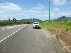 Entering Goomboorian 80km zone was one of the areas earmarked for a possible turn-out bay, proposed in a recent audit of Tin Can Bay Road