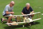 Local modellers Neil & Marty with a DH2 from WW1