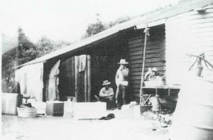 Sunny Chaplains ice shed at double Island Point – Mid 1960's
