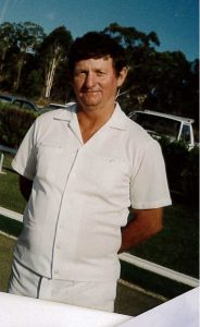 Mick Hall in his bowling whites - some time ago!