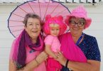 Dawn and Wendy from the Tin Can Bay QCWA Branch are getting in the pink spirit for the 2019 TCB MDC!