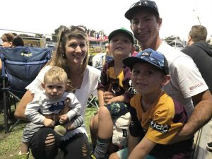 The Apps family will be sure to spoil mum and wife, Corinna - taken at the Rainbow Beach Bull and Bronc Spectacular