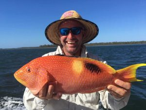 Mick very happy with a nice Gold Spot wrasse