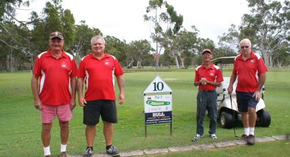 Four golfers that will be playing in the tournament: Peter Fife, George Oxton, Gregory Tritton (Vets Captain and event organiser) and Stuart Shephard
