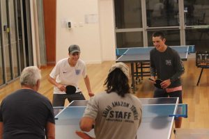 Table tennis at the Community Hall