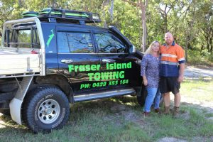 Dave and Carolyn Elder from Rainbow Beach Service Centre, update us on Tristan's progress after his accident two years ago