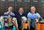 Fish Classic - Rodney Parker, Craig Splatt, Rodney Mann happy with their catch.