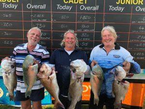 Fish Classic - Rodney Parker, Craig Splatt, Rodney Mann happy with their catch.