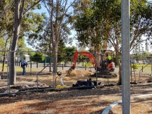 Work has already commenced on Les Lee Park - photo Jess Milne