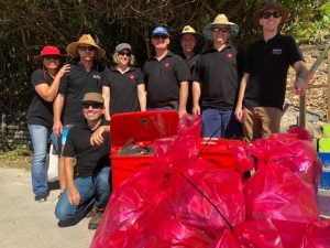 Nestle Gympie Clean Up -50 Nestlé volunteers from the Gympie factory donned gloves to clean up rubbish along the beach and dune areas at Rainbow Beach and Inskip Point