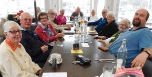 L to R - Margaret Ambrose, John and Kaye Olson, Lawrie and Lyn Buhse, Jo Said, Don Beaton, Judy Kiddle, Arthur Leggo, Beryl Bennett, Della Kerrison and her grandson, Carl.