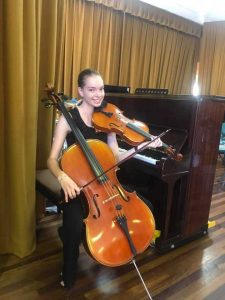 Hannah Johnston, one of the performers at our last Cooloola Community Orchestra Concert, in Tin Can Bay