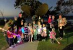 Lanten Walk - Back row (adults); Sallie, Organisers; Lucia Phelan and Corinna Apps, Sean holding Sofia, Brooke holding Banjo. Front row (kids); Charlie, Charlie, Olivia, Isabella, Kalarna, Zarya, Keira, Mason, Saidah, Evie