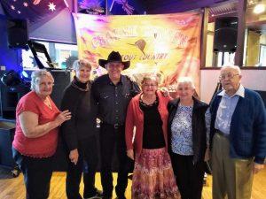 Probus - Photo: Left to right: Cherryl Mossman, Katrina van den Brenk, entertainer Graeme Jensen, Marie Parker, Jo Said and Arthur Leggo
