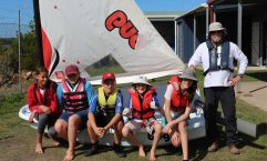 The instructors' course. Photo L to R: Rachel Espeut; Dallas Kennedy, Jorell Kennedy, Alex McAndrew; Ava McAndrew, Bruce Carter Instructing.