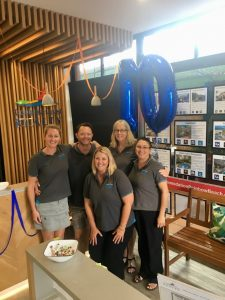 The Cooloola Coast Realty team celebrate 10 years business on the coast and also a new business in Cooloola Cove!