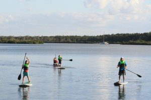 The kids will love to learn SUP'ing over the school holidays at Carlo Point.