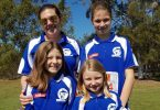 Janae, Jamie-Lee and Maddison Katon with Mum Renee are just one family that love the fun and fitness of Little Athletics