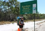 Jennifer Parry takes a break in Rainbow Beach