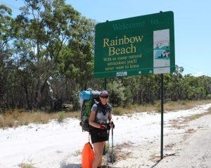 Jennifer Parry takes a break in Rainbow Beach