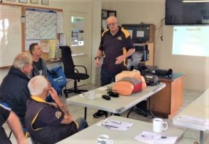 The Tin Can Bay Coast Guard also conducts courses in First Aid for the public