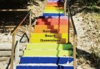 The Stairs with the words Rainbow Beach, Queensland have now been approved (image only for story purposes)