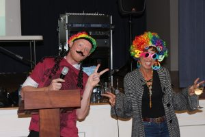 Trivia Night - Hosts for the evening Jed Elmer and Kirstie Jordison