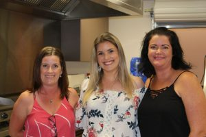 Helping out the P & C on the Trivia Night were Nicole Lunney, Wendy Shaw,, Zaneta Fitzgerald.