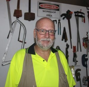 Newly appointed workplace Health and Safety Officer for the Men's Shed, Rob Butt